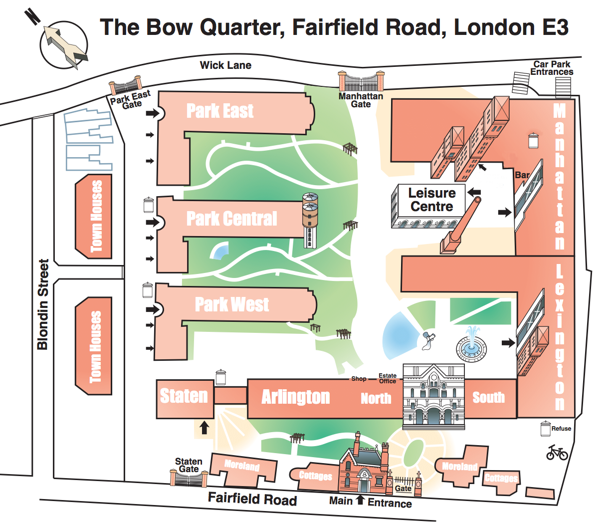 Plan of The Bow Quarter